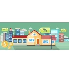Real Estate House for Sale Installment Sale vector image