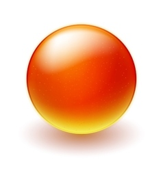 Red and yellow sphere on white background vector image vector image