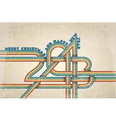 retro new year card vector image