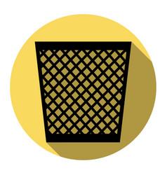 trash sign flat black icon vector image