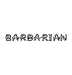 barbarian logo lettering celtic font norse vector image
