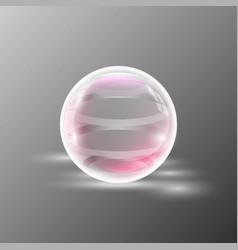 empty transparent sphere vector image
