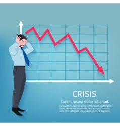 Failure Business Poster vector image vector image