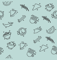 indian food concept pattern vector image vector image