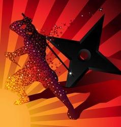 Ninja magic invisible silhouette vector image vector image