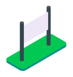 blank isometric outdoor billboard vector image
