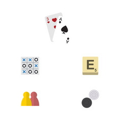 flat icon entertainment set of mahjong people x vector image vector image