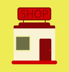 flat icon shop vector image vector image