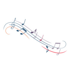 music note melody musical watercolor set disco vector image