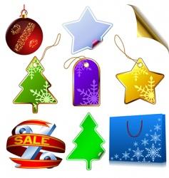 winter sale set vector image vector image
