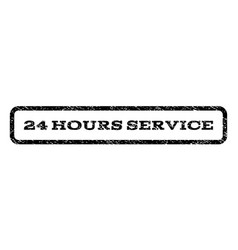 24 hours service watermark stamp vector image