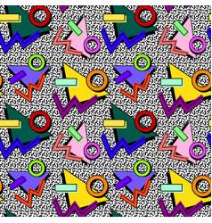 80s memphis pattern vector image