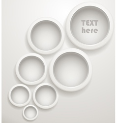 Abstract background of grey circles vector image