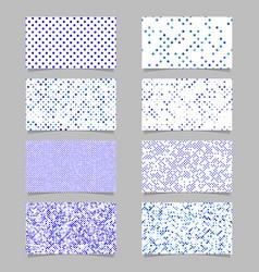 abstract circle pattern mosaic card background vector image