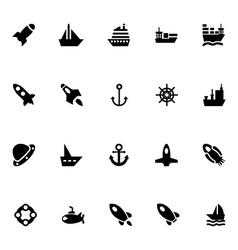 Aircraft and Ships Icons 1 vector image