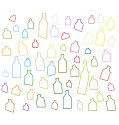 alcoholic bottles silhouettes vector image