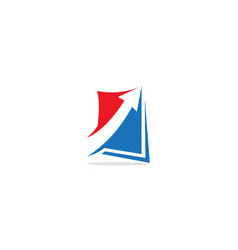 arrow up square logo vector image