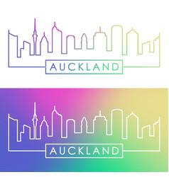 auckland skyline colorful linear style editable vector image