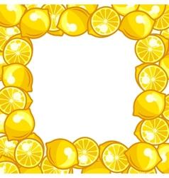 Background design with stylized fresh ripe lemons vector