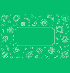 Bacteria and viruses horizontal background vector