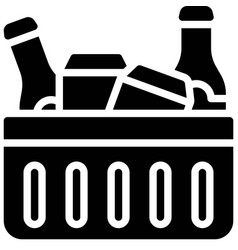 Beverage in ice box icon summer vacation related vector