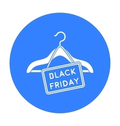 Black friday sale icon in black style isolated on vector image