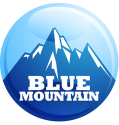 blue mountain vector image
