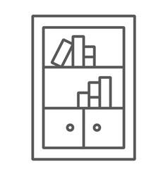 bookshelf thin line icon furniture and shelf vector image