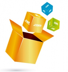 Box cube vector