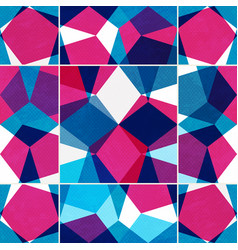 bright mosaic seamless pattern with grunge effect vector image vector image