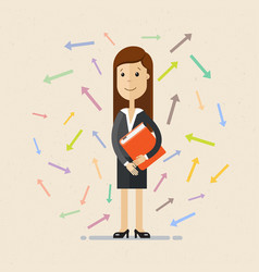 business woman and arrows vector image