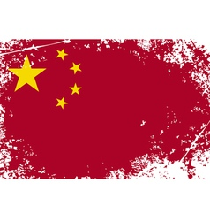 China grunge flag vector