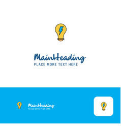 creative bulb logo design flat color logo place vector image
