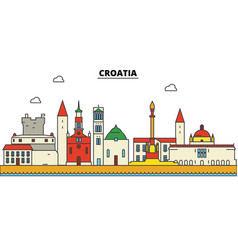 croatia croatia city skyline architecture vector image vector image