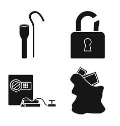 Design robber and villain symbol set of vector