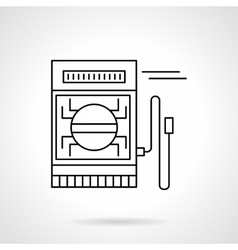 Digital multimeter flat line icon vector image