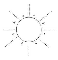 Dotted shape natural sun light ray weather vector