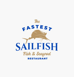 fastest sailfish fish and seafood restaurant vector image