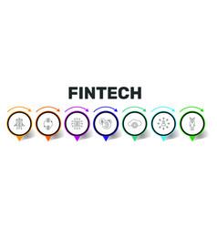 Fintech infographics design timeline concept vector