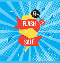 flash sale background vector image