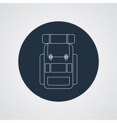 Flat modern set of three hiking backpacks Three vector