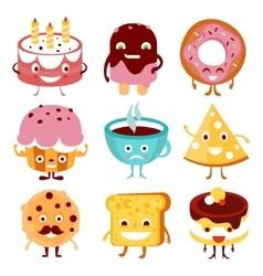 Funny Cartoon Food and Drink vector