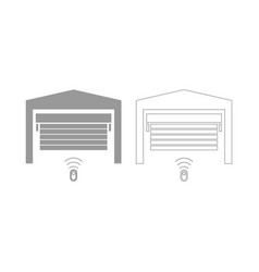 garage door set icon vector image vector image