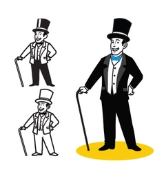 Gentleman Cartoon vector