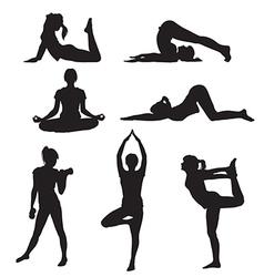 Girl yoga vector