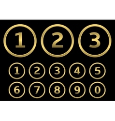 Golden numbers vector image