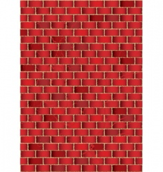grunge brick wall vector image