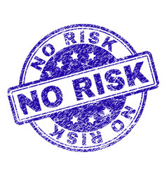 Grunge textured no risk stamp seal vector
