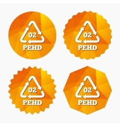 Hd-pe 02 sign icon high-density polyethylene vector