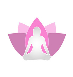 Holistic healing through yoga and meditation vector